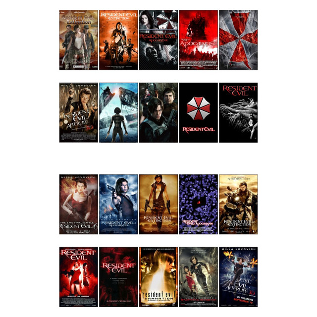 1 Pcs Resident Evil Movie Theme Poster Diy Waterproof Sticker Post