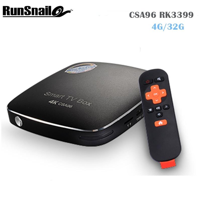 2017 CSA96 RK3399 TV Box Android 6.0 Mali T864 GPU 4 К 60fps H.265/H.264/VP9 4 г/ 32 г двухдиапазонный Wi Fi 2.4 г/5 г smart box media player