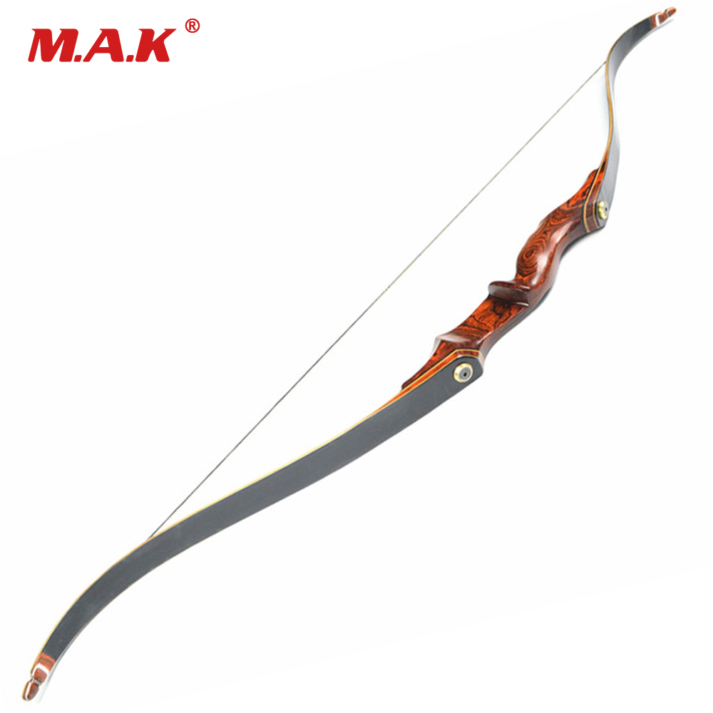 30-55LBS 58 Inches M02 American Hunting Recurve Bow with Wooden Handle for Outdoor Archery Hunting Shooting