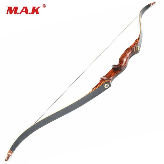 cea0695f1 30-55LBS 58 pulgadas M02 americano caza arco recurvo arco con mango de  madera para