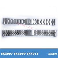 22 мм нержавеющая сталь ремешки для часов загнутым концом Замена для Seiko SKX007 SKX009 SKX011