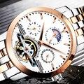 AILANG 2019 многофункциональные мужские наручные часы с 3 циферблатами и календарем  военные светящиеся Автоматические наручные часы  люксовый ...