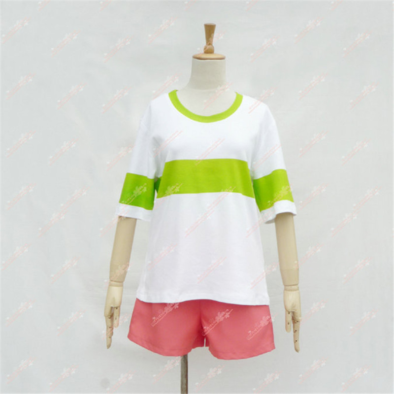 Image 5 - Spirited Away Chihiro Ogino Cosplay Costume Japan Anime Casual Costumes T shirt+Shorts-in Anime Costumes from Novelty & Special Use