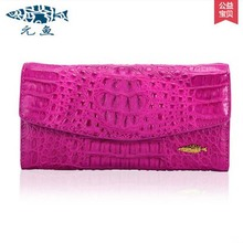 yuanyu real thai crocodile purse female long clutchse crocodile Leather bag more screens hand caught bag women day cluthes