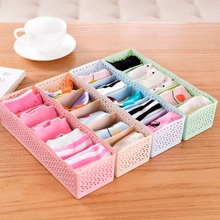 Underwear Organizer Storage Box Bra Socks Drawer Cosmetic Divider Tidy 5 Cells box organizador de gaveta porta joias