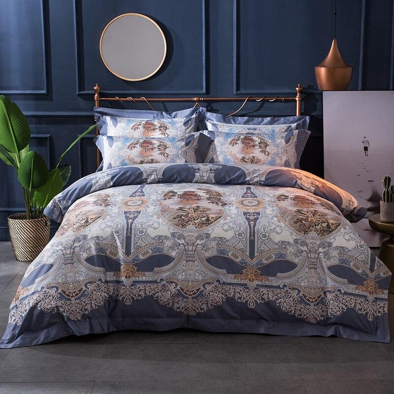 2017 Bohemian Bedding Set Egyptian cotton Bed Linen horse prints Duvet Cover Pillowcases Bed Sheet Sets Queen King Coverlets