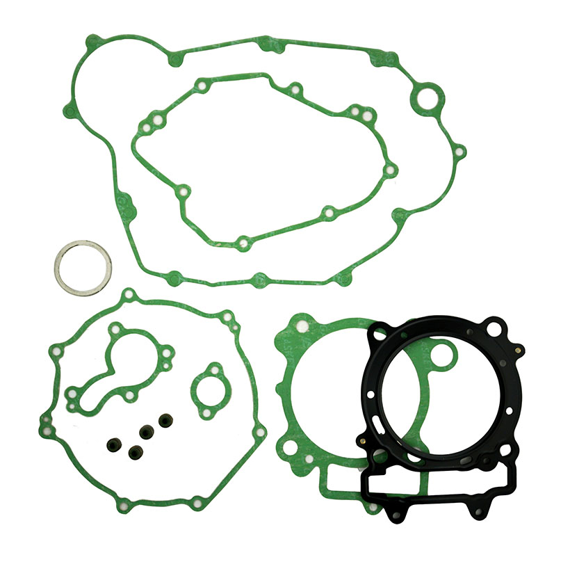 LOPOR For Kawasaki KX450F 2006-2008 Complete Engine Cylinder Top End Stator Clutch Cover Exhaust Gasket Kit Valve Seals SetLOPOR For Kawasaki KX450F 2006-2008 Complete Engine Cylinder Top End Stator Clutch Cover Exhaust Gasket Kit Valve Seals Set