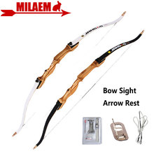 1Set 54inch 10 22lbs Archery Recurve Bow Arrow Rest Bow Sight Right Hand Composite Fiber Laminated Hunting Shooting Accessories