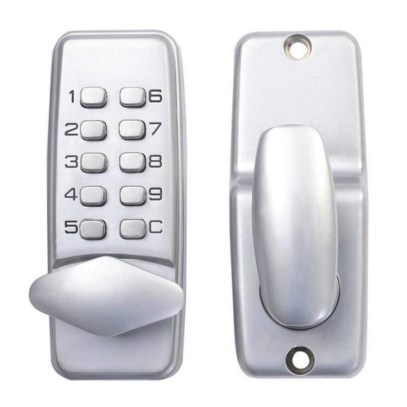 password entry door locks keyless security zinc alloy waterproof with digital machinery code keypad for school