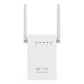 300Mbps Mini Router WiFi Repeater Network Range Extender Booster N300 Wi-Fi Single Increase Dual External Antennas EU/US/UK Plug
