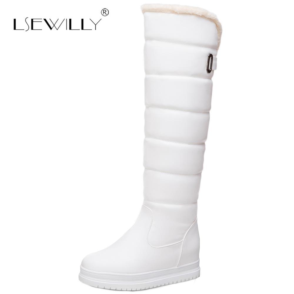 Ladies White Snow Boots