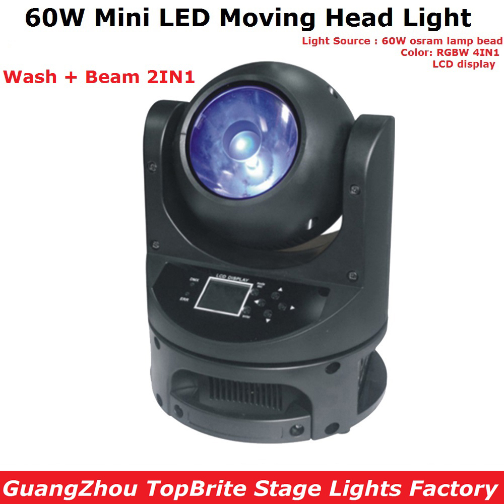 60W Mini LED Moving Head Beam Light DMX Dj Disco Christmas Stage Effect Fixture 60W RGBW Quad Color LED Moving Head Wash Light niugul mini 10w rgbw 4in1 led moving head dmx512 light led beam spot lighting show disco dj laser light christmas party lights