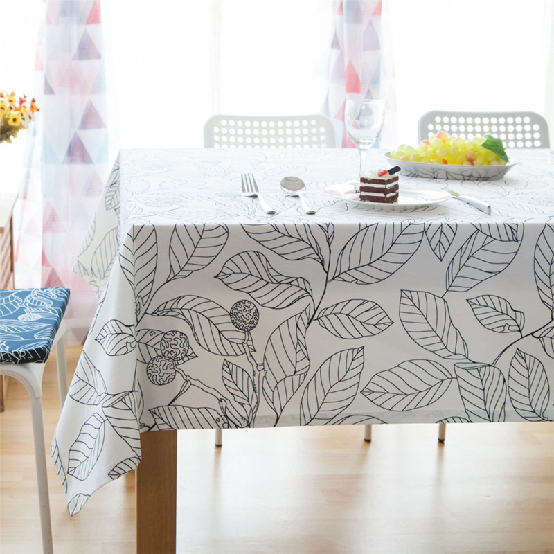 Rectangular Tablecloth Cotton Polyester Fabric Tableclothes For Rectangular Tables Pastoral Table Cloth For Home Tea Table Cover