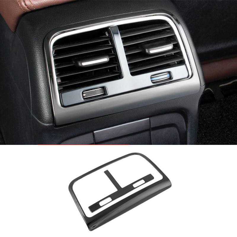 Car styling Rear air conditioning vent decorative frame air outlet trim stickers Covers for Audi Q5 a4 b8 a5 auto Accessories