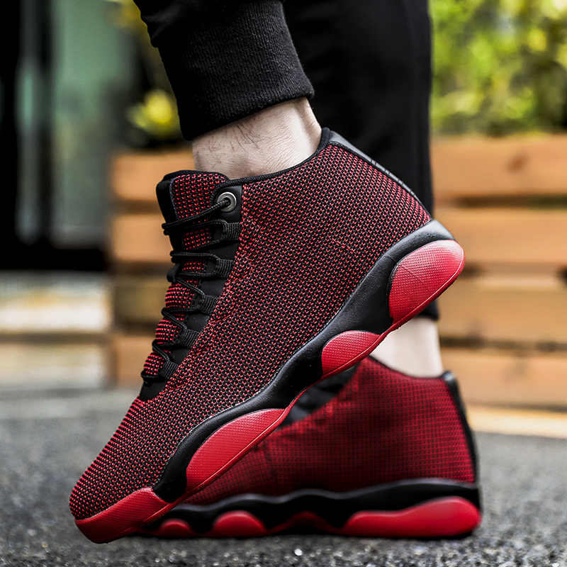 Weweya 2019 Men Basketball Shoes Hot Sell Breathable Sneakers Basket Homme Trainers Outdoor Game Athletic Sports Shoes Black Red