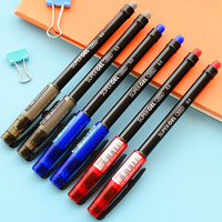 48 Pcs Lot Super Gel Pen 0 5mm Roller Ball Pens Red Blue Black Ink Wholesale