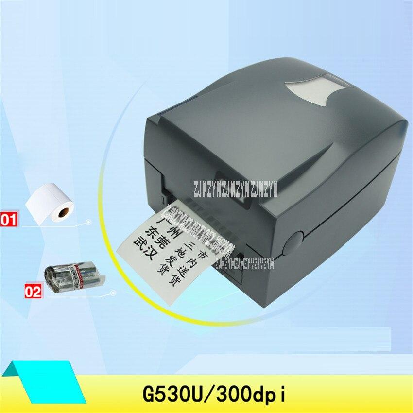 G530U штрих код этикетки принтер с 300 точек/дюйм специализированные для одежды mark и ценник impressora multifuncinal 100 240 В 127 мм/сек