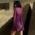XIFENNI Marca Mujeres Satén de Seda Robe Sets Bordado de Encaje Sexy Albornoces Twinset V-cuello de Seda de la Emulación Camisón ropa de Dormir 6629