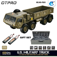 HG P801 1:12 2.4G 8*8 M983 739mm Rc Car US Army Military Truck Without Battery Charger RC Distance 100m 550 Brushed Motor