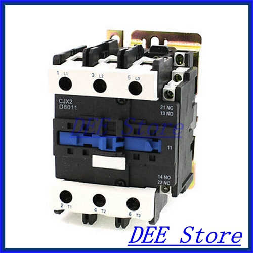 50/60Hz Coil Frequency 3 Phase 1NO 1NC Motor Controller AC Contactor 660V 80A  замыкатель ux motor lc1d09 ac 110 50 60 3 nc