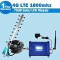 GSM 1800 Telefone Celular Amplificador de Sinal Móvel Impulsionador 20dBm DCS 1800 mhz Display LCD Repetidor GSM Com Antena Yagi