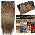 #6 light brown 70g 80g 100g 120g 140g 160 5gthick Pelo Flip En El Cabello Humano extensión remy Brasileña extensiones de cabello humano extensión