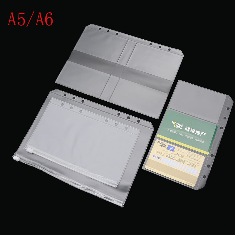 A5 A6 PVC Presentation Binder Folder Zipper Receive Bag Concise Diario Planner amp Spiral Filing Products