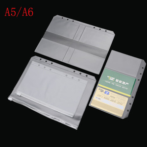 A5 A6 PVC Presentation Binder Folder Zipper Receive Bag Concise Diario Planner& Spiral Filing Products Card Holder