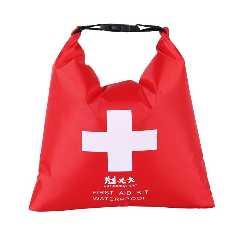 1.2L Waterproof First Aid Kit Emergency Dry Bag Sack For Travel Camping Red Kayaking Canoeing Rafting Accessories