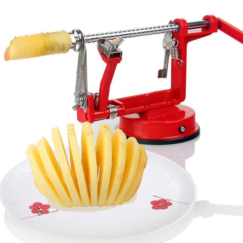 2018 Gloednieuwe 1 stks 3in1 Fruit Gereedschap Apple Slinky Machine Peeler Fruit Cutter Slicer Keukengerei Apple peeling machine (0153-6.8)