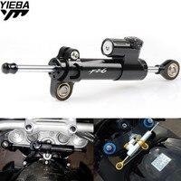 Universal Motorcycle Steering Dampers Stabilizer Safety Control LOGO For YAMAHA FZ1 FZ6 FZ8 FZ6R YZF R1 R6 YZF R6 XJ6 FZ6 FAZER