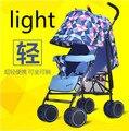 Ultraportabilidade guarda-chuva carro carrinho de criança pode sentar-se ou deitar chocar quatro dobrável carrinho de bebê bb criança