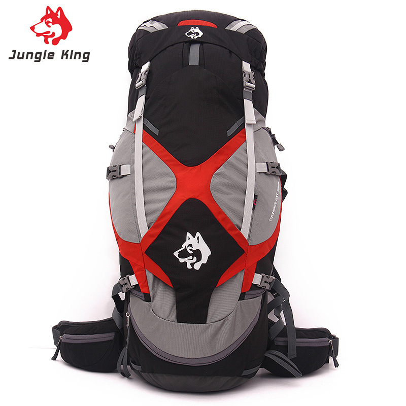 65L Camping Mountaineering Bag Waterproof Sports Backpack Outdoor Travel Hiking Backpack suspension frame support A4811