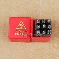 9PCs 3 32 2 5mm Steel Number Stamps Punch Dies Set