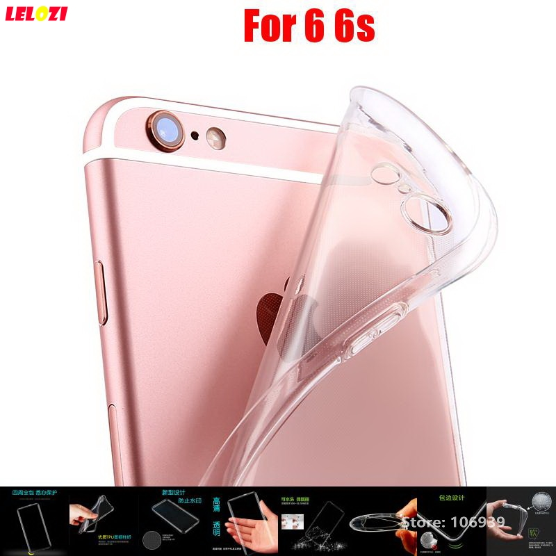 LELOZI New Best Fashion Soft Transparent TPU Clear Silicone Gel Ultra Thin Fundas Etui Case Cover For iPhone 6 6s 4.7