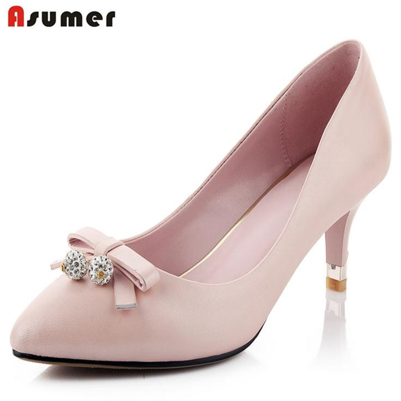 ФОТО  pink hot sale 2016new arrive women pumps wedding shoes party shoes summer stiletto high heels genuine leather sheepskin