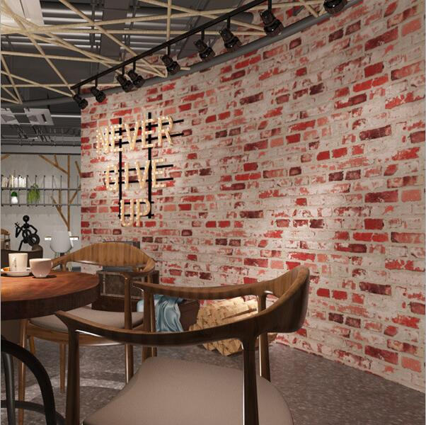 3D retro brick background wallpaper 3D brick mural wallpaper Living room bedroom wallpaper roll book knowledge power channel creative 3d large mural wallpaper 3d bedroom living room tv backdrop painting wallpaper