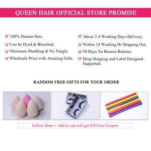 Image 5 - Kraliçe saç resmi mağaza brezilyalı saç örgü demetleri ile kapatma 5x5 vücut dalga 100% insan bakire saç uzatma hızlı kargo