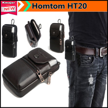 Genuine Leather Carry Belt Clip Pouch Waist Purse Case Cover for Homtom HT20 4.7inch Phone Free Drop Shipping