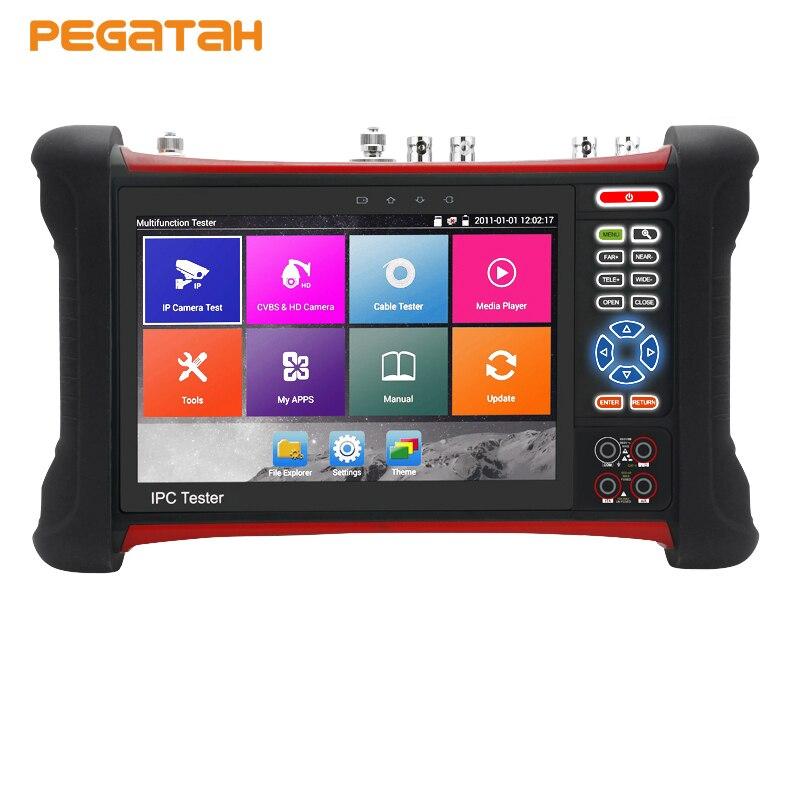 H.265 4 K 8MP testeur de caméra CVI TVI AHD SDI CVBS IP 6 dans 1 CCTV Testeur avec TDR, câble traceur, Multi-mètre, testeur de caméra IP