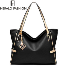 High Quality PU Leather Women Messenger Bag Big Shoulder Bag Large Capacity Totes Famous Brand Bolsa Feminina Herald Fashion New