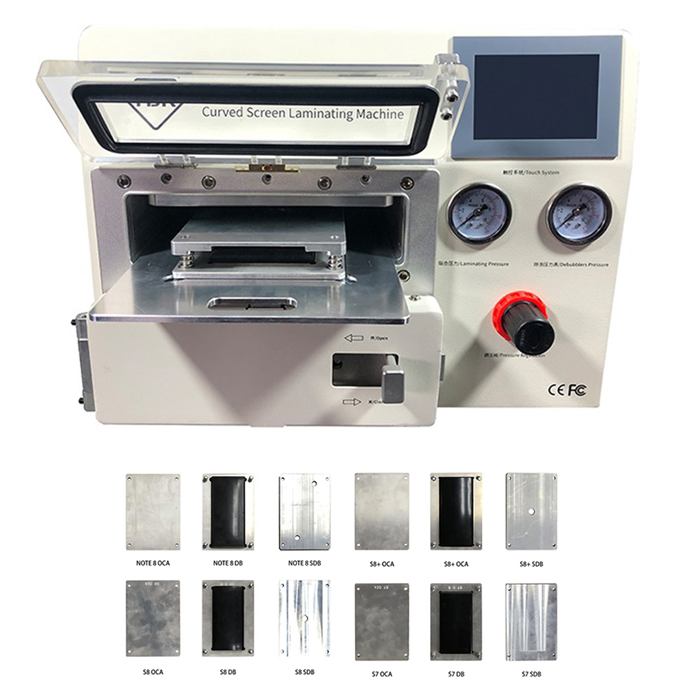 TBK-508A Curved LCD Screen Vacuum Laminating Machine Bubble Remover For Sumsung IPhone IPad S9 S9+ Edge LCD OCA Repair