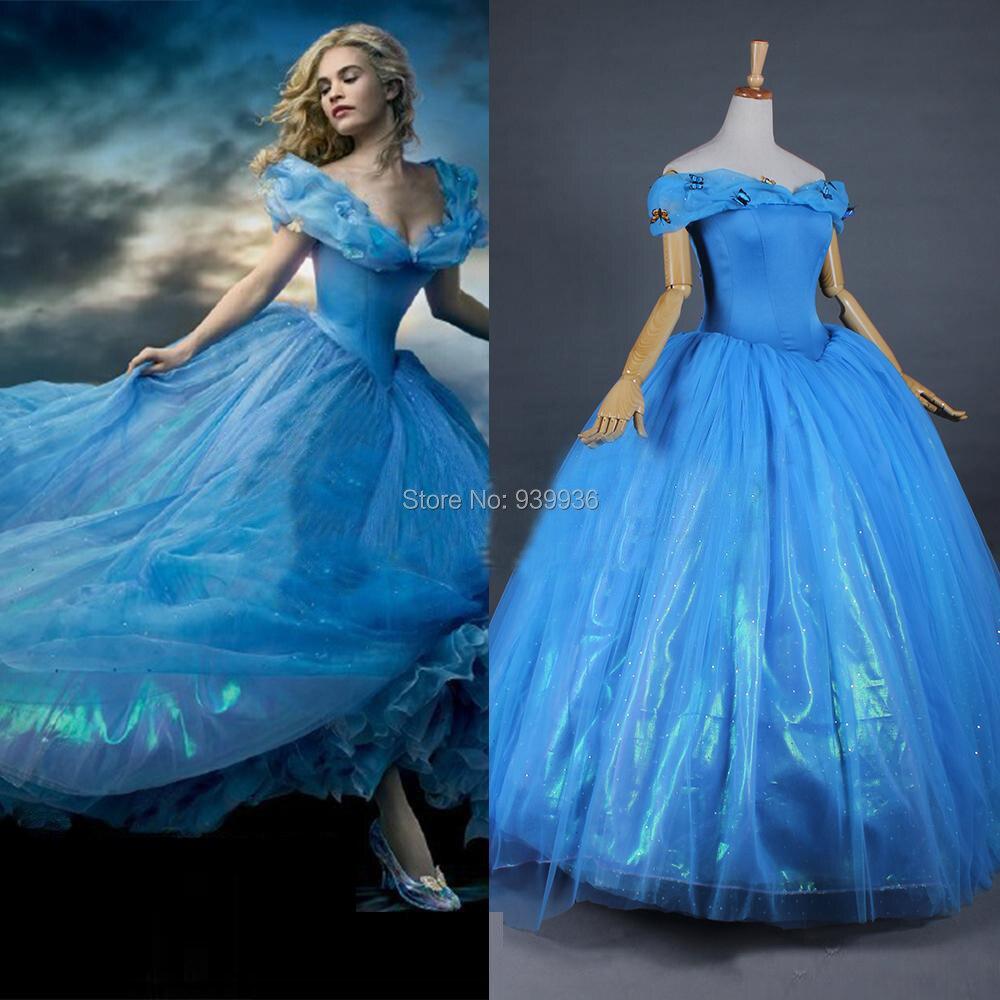 Ball Gown Scoop Organza Cinderella Wedding Dresses Sky Blue Chapel ...