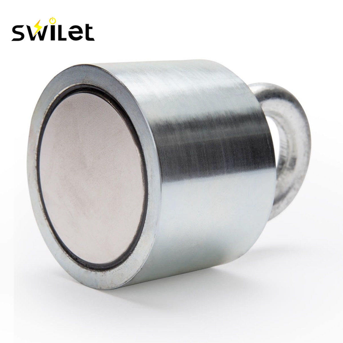 SWILET 1PCS 55x40mm 30kg Neodymium Recovery Magnet Metal Detector with Handle Ringscrew High Quality PowerfulSWILET 1PCS 55x40mm 30kg Neodymium Recovery Magnet Metal Detector with Handle Ringscrew High Quality Powerful