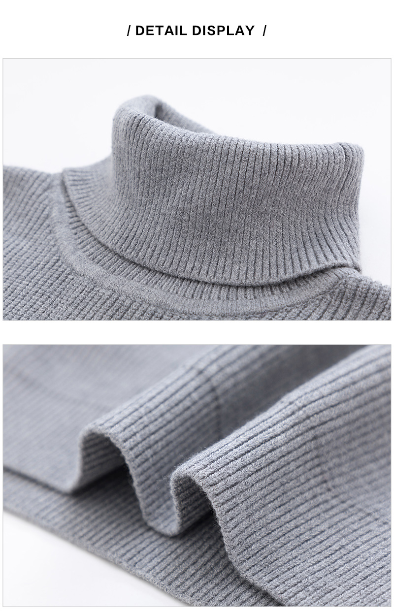SEMIR Winter Warm Turtleneck Sweater Men Double Collar Fashion Solid Knitted Mens Sweaters 18 Casual Male Slim Fit Pullover 12