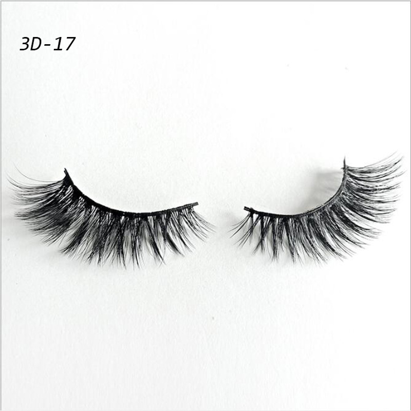 3d Mink Lashes False Eyelashes 1 Pair Natural Black Long Makeup Luxury Hand Made Lash Reusable Extension Eyelashes For Beauty 25