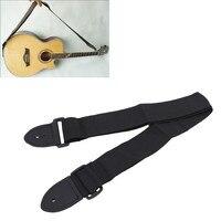 Guitar Strap  Leather Head Adjustable Shoulder Strap For Guitar Electric Guitar Bass Guitar Parts  Accessories Black New