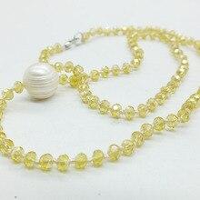 """Солнце, белые облака, пляж, классический летний кристалл, жемчужное ожерелье 18"""""""