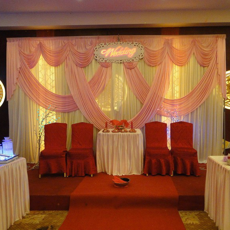 Wedding Stage White And Pink Backdrops Decoration Romantic Wedding