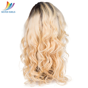 Image 5 - Sevengirls 360 Lace Frontal Wigs Brazilian Loose Wave Ombre 2#/613 Color Human Hair Wigs With Baby Hair For Women Free Shipping